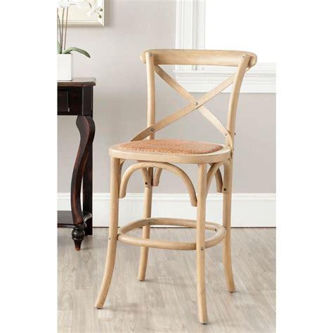 safavieh franklin 24 4 in weathered oak bar stool