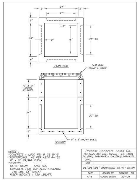 Catch Basins - Precast Concrete Sales Company