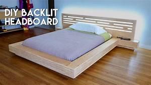 DIY Modern Plywood Platform Bed Part 2 : LED Backlit