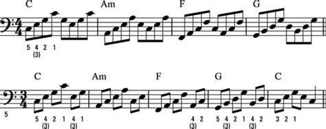 play accompaniment patterns   piano