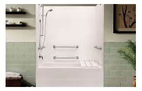 Handicap Tub Shower Combo by Accessible Tub Shower Combinations Accessible Products Aquatic Bath
