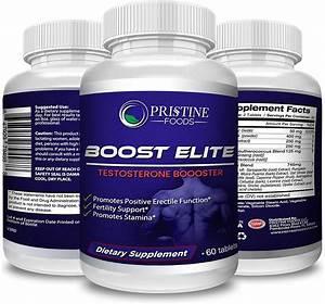 Pristine Foods Ultra Premium Boost Elite All Natural Testosterone Booster Male Performance