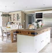 Open Plan Kitchen Designs Kitchen Diner With Butcher 39 S Block Unit Open Plan Kitchen Design