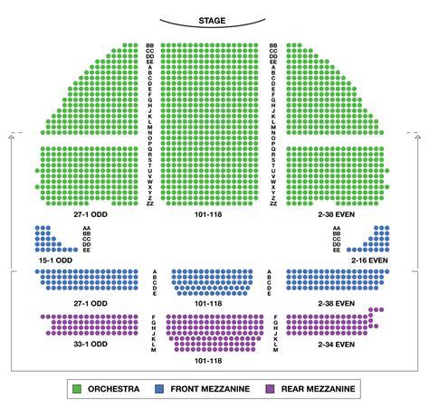 chicago theater seat map swimnova gershwin theatre large broadway seating charts