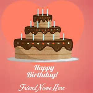 Write Name On Happy Birthday Card