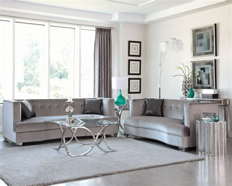 traditional sofa set price caldwell silver living room set from coaster 505881