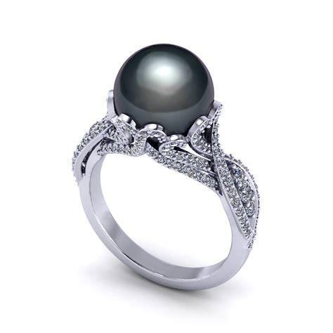 Black Tahitian Pearl Ring  Jewelry Designs. Classic Diamond Rings. Emerald Cut Diamond Bands. Sun Moon Necklace. Mens Medieval Wedding Rings