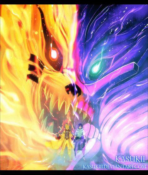 naruto naruto sasuke  kurama susanoo fusion flickr