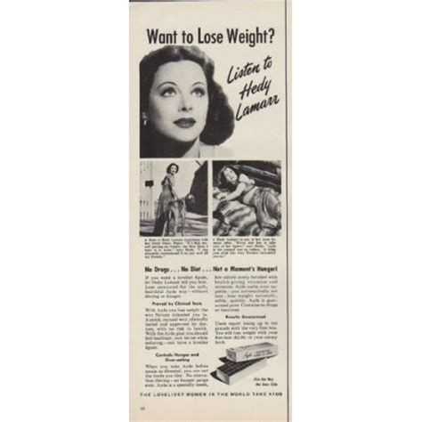"1952 Ayds Vintage Ad ""want To Lose Weight?"""