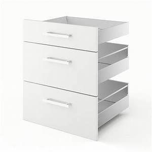 Tiroir De Cuisine : 3 tiroirs de cuisine blanc d lice x x cm leroy merlin ~ Teatrodelosmanantiales.com Idées de Décoration