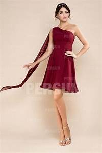 robe courte demoiselle d39honneur a une epaule 2128845 With robe évasée courte