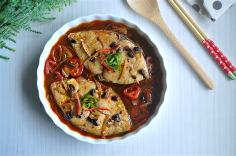 braised fish  spicy black bean sauce eat