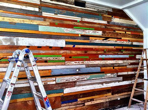 salvaged wood wall designsponge