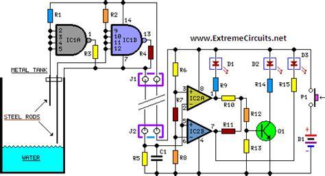 Liquid Sensor Circuit Page Sensors Detectors Circuits
