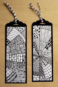 Schöne Muster Zum Selber Malen : papier pappe lesezeichen zentangle ein designerst ck von kreativkraft bei dawanda ~ Orissabook.com Haus und Dekorationen