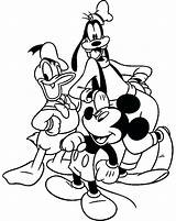 Coloring Goofy Trombone Mickey Mouse Friends Printable Donald Halloween Clubhouse Disney Activities Getdrawings Duck Cartoon sketch template