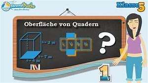 Quader Oberfläche Berechnen : oberfl che vom quader berechnen klasse 5 bung 1 youtube ~ Themetempest.com Abrechnung