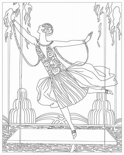 Coloring Dancer Colouring Barbier Deco George Jets