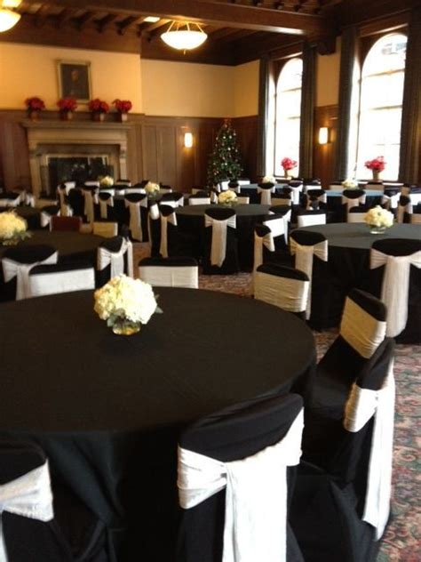 black wedding table cloth and chair covers black chair