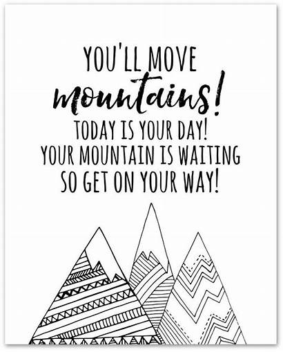 Mountains Move Printable Seuss Dr Ll Printables