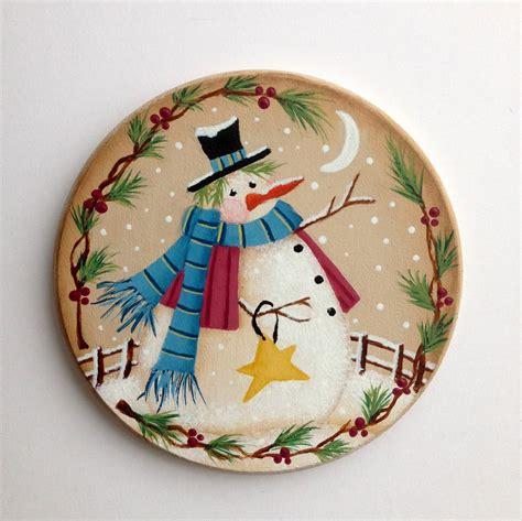 artful evidence decorative painting snowman