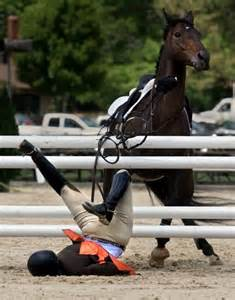 People Falling Off Horse Riding