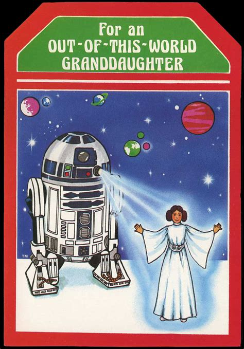 Make yourself or your loved ones happy with holiday cards. Star Wars Christmas cards (1977) - Fonts In Use