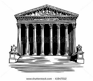 White House clipart supreme court building - Pencil and in ...