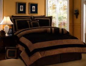 7 pieces chocolate brown suede comforter set king bedding