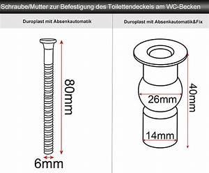 Wc Sitz Schrauben Lösen : wc sitz klodeckel klobrille absenkautomatik duroplast ~ Articles-book.com Haus und Dekorationen