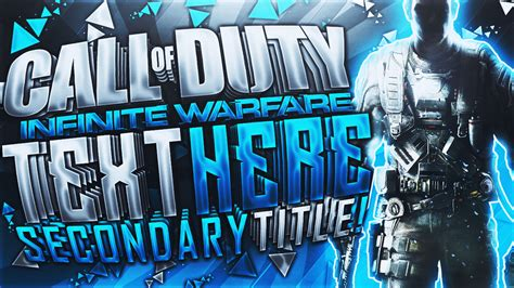 Banner Template Call Of Duty Infinite Warfare by Infinite Warfare Youtube Thumbnail Template By