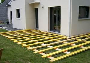 Poser Une Terrasse En Composite : terrasse bois sans dalle jardin ~ Melissatoandfro.com Idées de Décoration