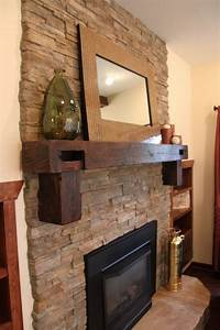 reclaimed wood mantel a decorative element with a unique With barnwood mantel ideas