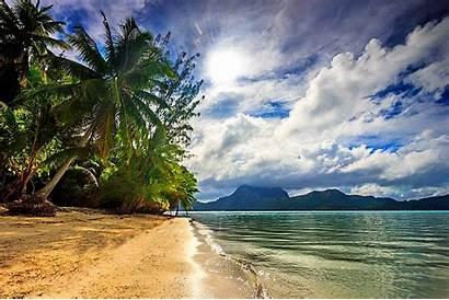 Bora Tropical Beach Island Landscape Polynesia French