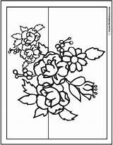 Bouquet Coloring Flower Flowers Rose Printable Pdf Primrose Wildflower Getdrawings Sheets Adult Daisies Getcolorings Books sketch template