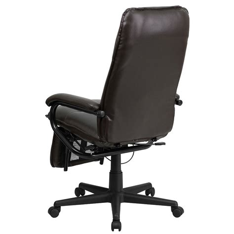 ergonomic home high back brown leather executive reclining