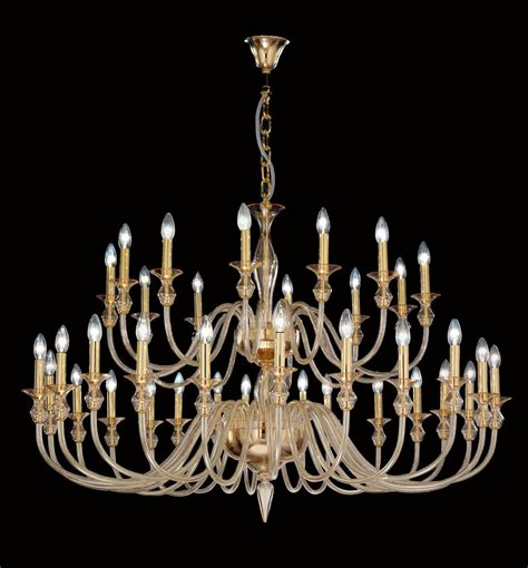 modern murano glass chandelier with gold metal