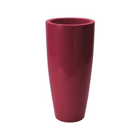 vaso rosso vaso di design alto talos gloss nicoli