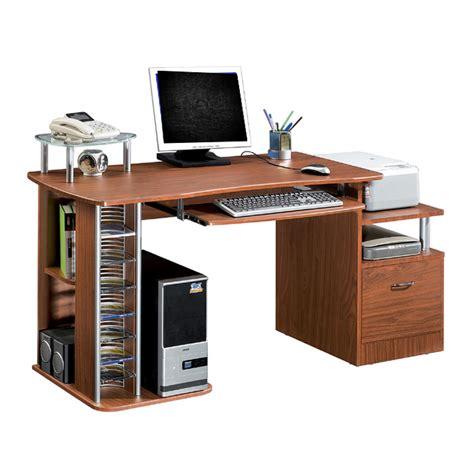 multi computer desk deluxe multi purpose file cabinet computer desk mahogany