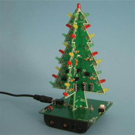 christmas tree led flash kit 3d diy electronic learning