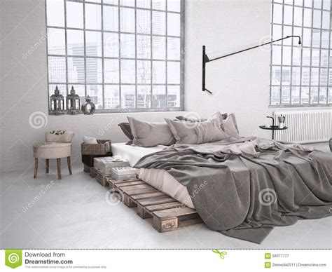 40804 modern industrial bedroom industrial bedroom 3d rendering stock image image of