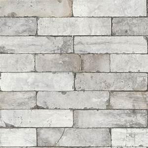Rasch Factory Stone Pattern Brick Wall Effect Mural Wallpaper 446302