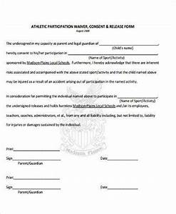 sample athlete waiver forms 9 free documents in word pdf With participation waiver template