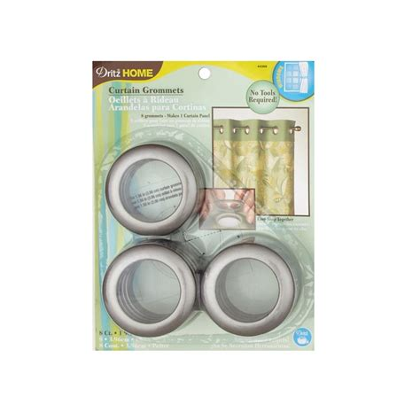 dritz curtain grommets pewter curtain grommets 8 pack pewter 1 9 16 discount