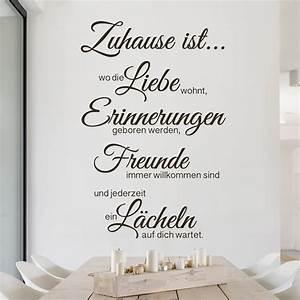 Zu Hause Zuhause : wandtattoo spr che zu hause ist ~ Markanthonyermac.com Haus und Dekorationen