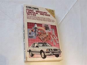 Chilton U0026 39 S Ford Mercury Lincoln 1971
