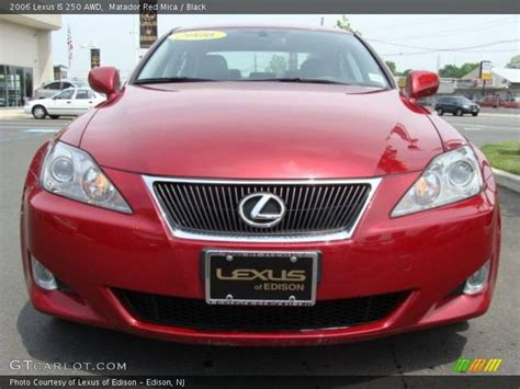 red lexus is 250 2006 2006 lexus is 250 awd in matador red mica photo no