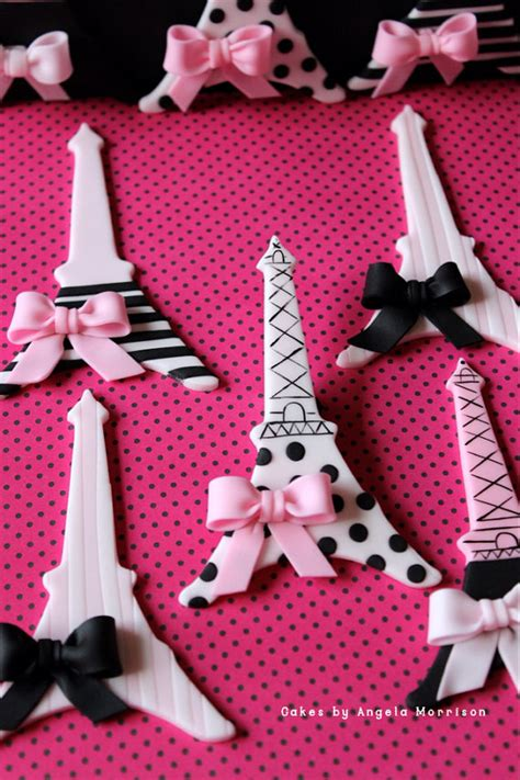 items similar to set of eiffel towers cupcake toppers on etsy