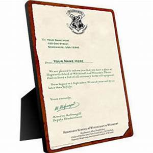 harry potter hogwarts personalized from wbshopcom harry With personalized hogwarts acceptance letter