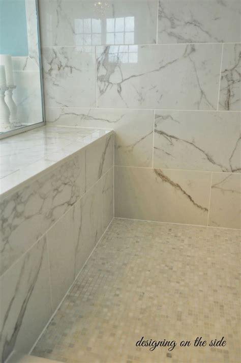 shower tiles   calcutta marble   floor